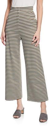 Max Mara Ebbro Striped Jersey Flare-Leg Pants