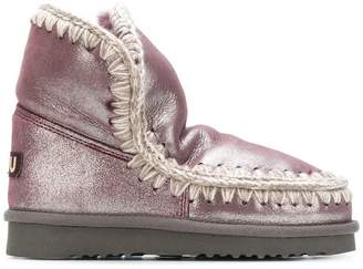 Mou embroidered eskimo boots