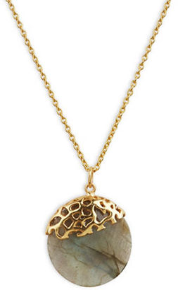 Lord & Taylor Labradorite and Sterling Silver Pendant Necklace $140 thestylecure.com