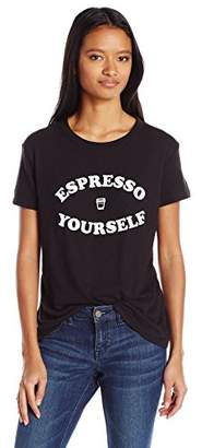 Sub_Urban RIOT Women's Espresso Yourself Loose Fit Graphic Tee $29.93 thestylecure.com