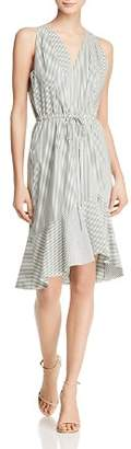 Adrianna Papell Striped Flounce Dress