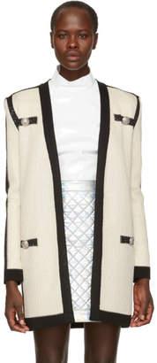 Balmain Off-White Tie-Up Cardigan