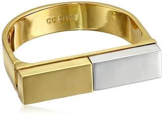 CC Skye Rhodium Platform Statement Cuff Bracelet