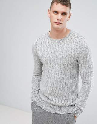 Selected Textured Knitted Sweater In Cotton
