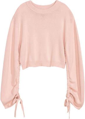 H&M Sweater with Drawstring - Orange