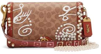 Coach Matty Bovan X Matty Bovan Riley Signature Bag - Womens - Brown Multi