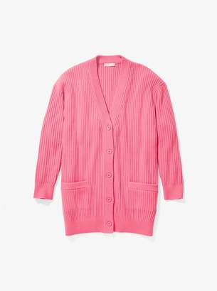 Michael Kors Cashmere Ribbed Cardigan