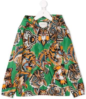 Gucci Kids animal faces print hooded jacket