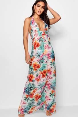 boohoo Tropical Flamingo Maxi Beach Dress