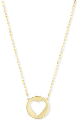 Sarah Chloe Eva Cutout Heart Pendant Necklace