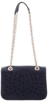 Anne Fontaine Leather Laser Cut Shoulder Bag