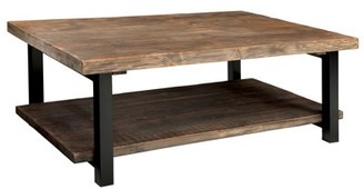 Alaterre Pomona Large Coffee Table, Rustic Natural