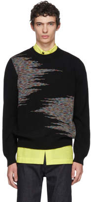 Missoni Black Pattern Crewneck Sweater
