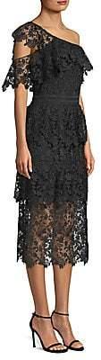 Joie Women's Belisa Lace One-Shoulder Midi Dress