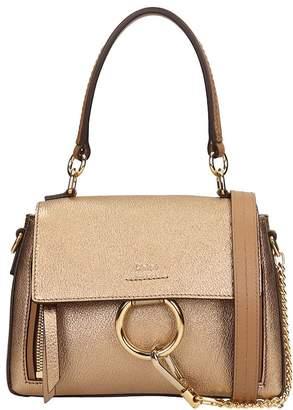 287aae235b83 Chloé Gold Bronze Leather Mini Faye Bag