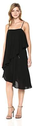 Elliatt Women's Apparel Women's Marseille Crepe Popover Flowy Asymmetrical Midi Dress