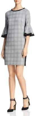 Three Dots Glen Plaid Sheath Dress