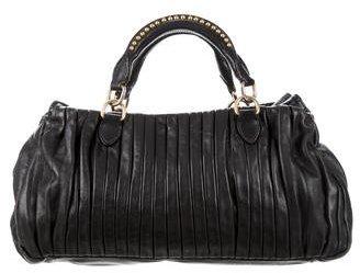 Miu MiuMiu Miu Plissé Leather Bag