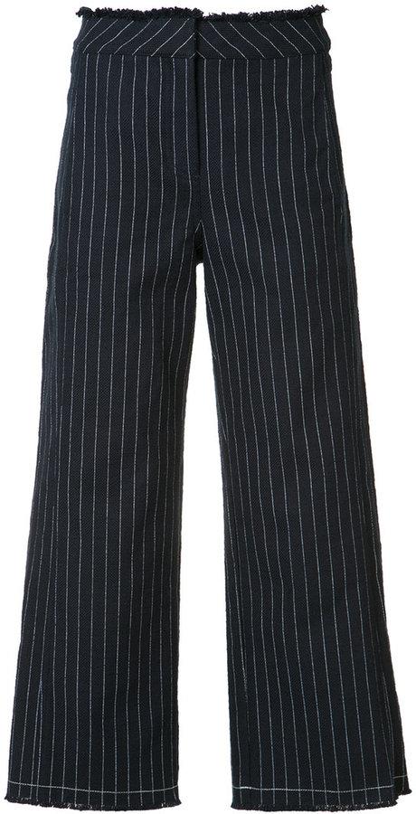 Alexander WangAlexander Wang cropped pinstripe trousers