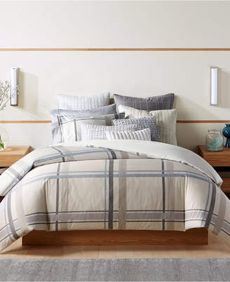 Hotel Collection Modern Plaid Twin Duvet Cover, Created for Macy's Bedding
