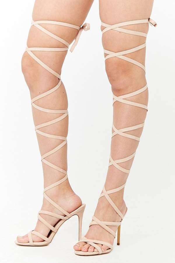 Forever 21 Lace-Up High Heels
