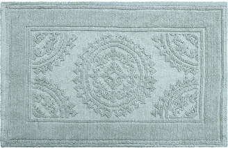 Jean Pierre Cotton Stonewash Medallion 17x24 Bath Rug Bedding