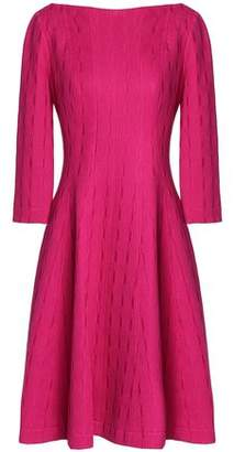 Lela Rose Flared Jacquard-Knit Cotton-Blend Dress