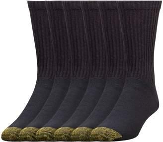 Gold Toe Men's Crew 656s Athletic Sock, 12 Pack Black