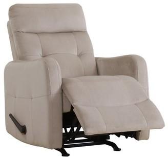 Homesvale Lucie Rocker Recliner Chair in Platinum Velour