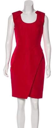 J. Mendel Sleeveless Mini Dress Red Sleeveless Mini Dress
