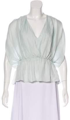 Tamara Mellon Short Sleeve Blouse