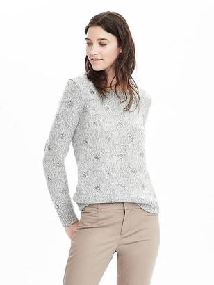 Embellished Crew Sweater $148 thestylecure.com
