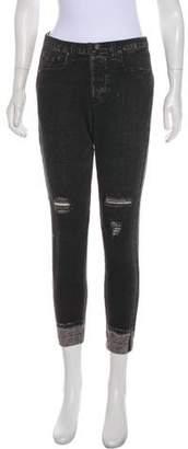 Rag & Bone Mid-Rise Skinny Sweatpants