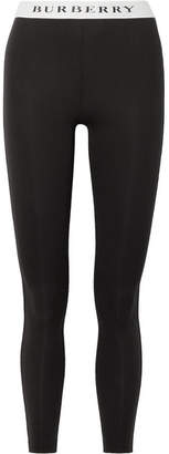 Burberry Printed Stretch-jersey Leggings - Black