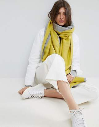 Asos Long Woven Diagonal Colour Blocked Scarf