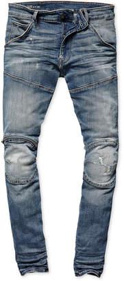 G Star Mens Zip-Knee Skinny Fit Moto Jeans