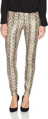Hue Women's Python Leatherette Leggings Sockshosiery, -, Extra Large