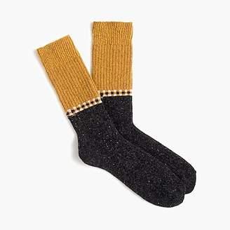 J.Crew Colorblock wool-blend socks