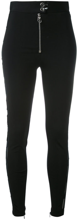 Versace Versace zip detail leggings