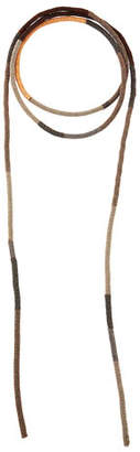 Brunello Cucinelli Monili and Leather Wrap Necklace