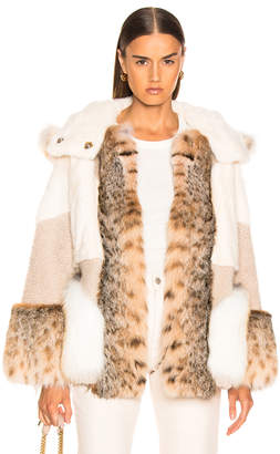 Yves Salomon Multi Fur Jacket