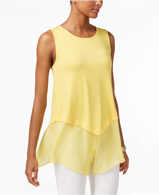Alfani Mixed-Media Top, Only at Macy's $49.50 thestylecure.com