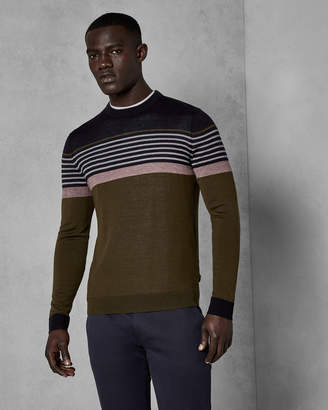 Ted Baker GIANTBU Striped wool sweater
