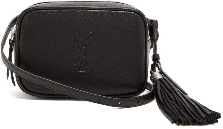 SAINT LAURENT Lou tassel-embellished leather belt bag