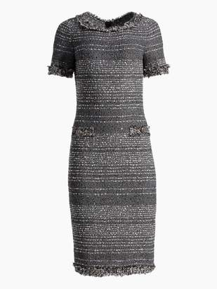 St. John Heathered Glimmer Knit Dress