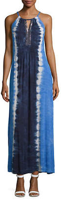 INC International Concepts Bead Neck Tie Dye Maxi Dress