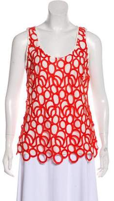 Lela Rose Sleeveless Embellished Top