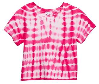 Splendid Tie Dye Baby French Terry Top (Big Girls)