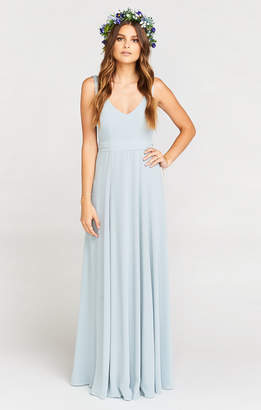 Show Me Your Mumu Jenn Maxi Dress ~ Steel Blue Chiffon