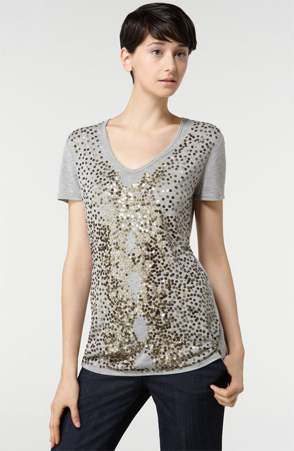 Tory Burch Sequined Jersey Tee